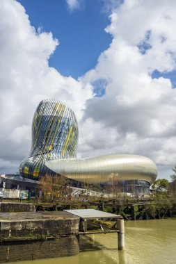 La cite du vin in Bordeaux, France.