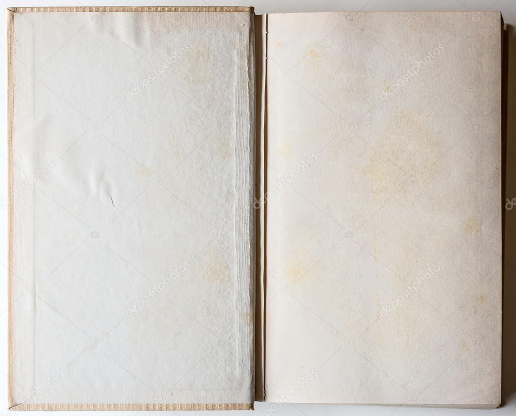 Livre Blanc Ouvert Sur La Premiere Page Photographie