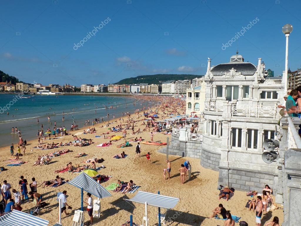 Plage de la concha en baie de concha saint s bastien - Office de tourisme san sebastian espagne ...