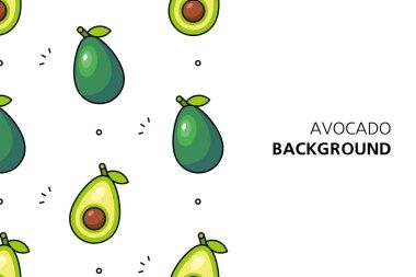 Avocado background. Icon design. Template elements. isolated on white background