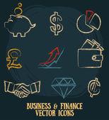 ikona nastavení související pro obchod a finance