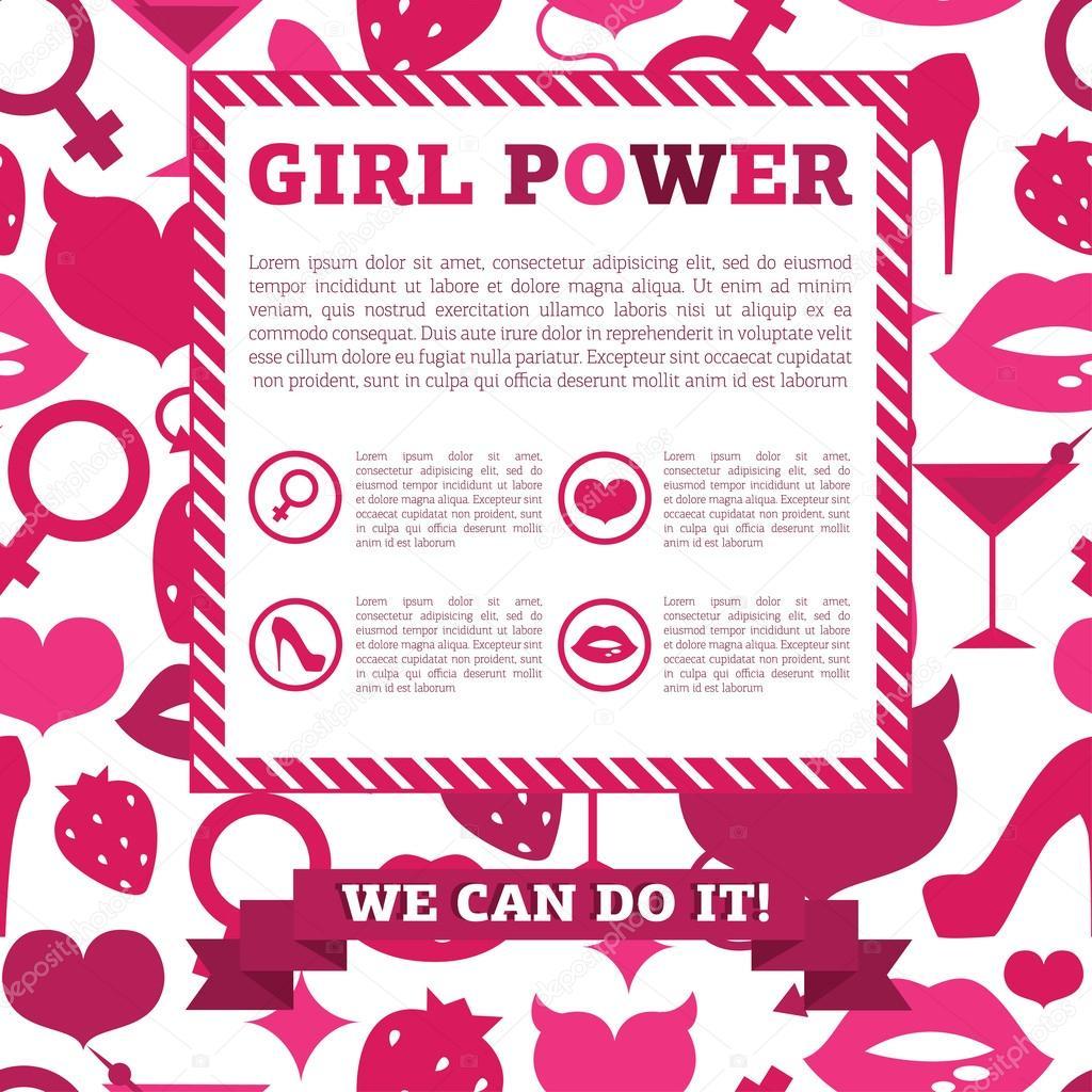 Banner for girl power