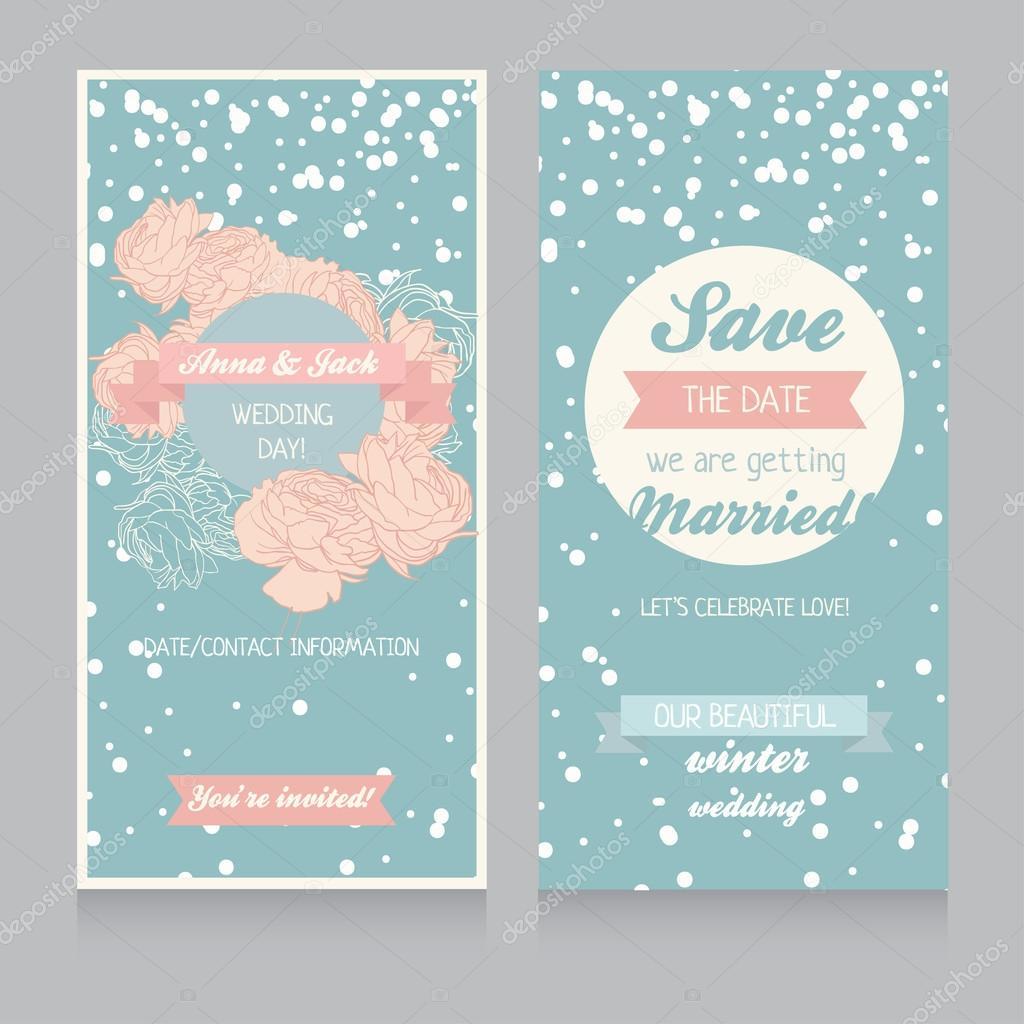 winter wedding invitation template stock vector ghouliirina