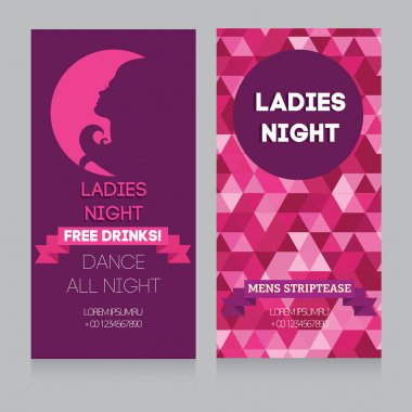 Template for Ladies night party, vector illustration clip art vector