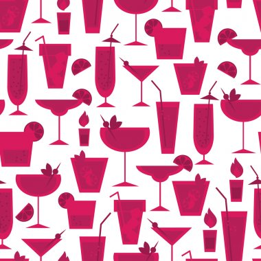 Seamless pattern for cocktail party