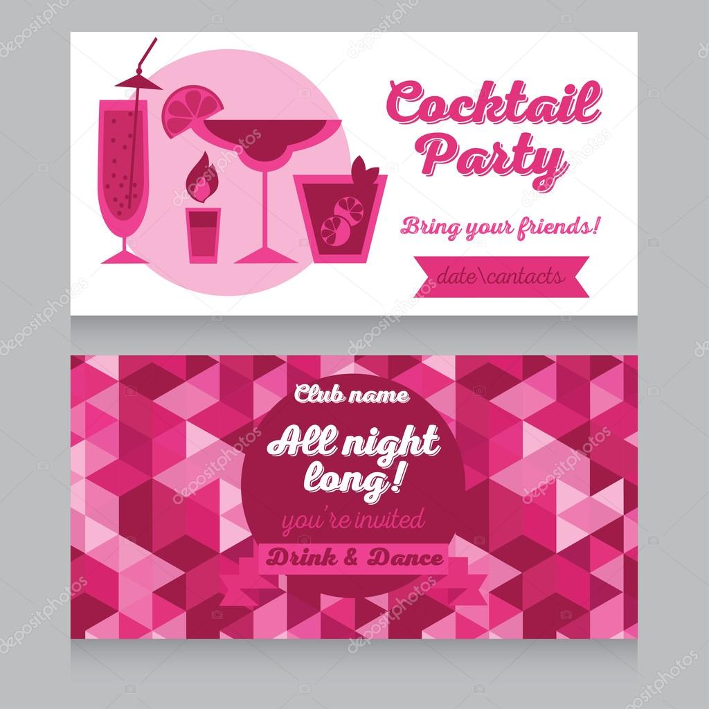 Vorlage Für Cocktail Party Einladung U2014 Stockvektor #59737061