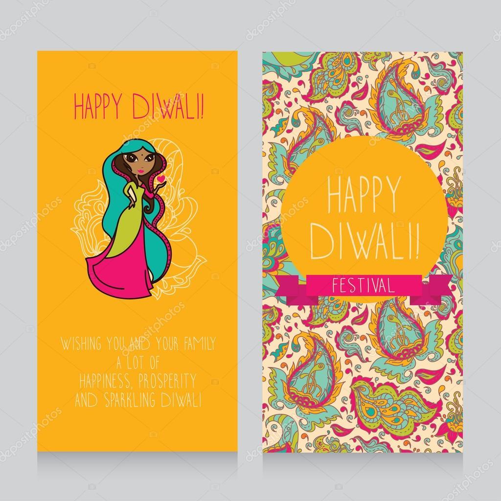 Diwali Greeting Cards Stock Vector Ghouliirina 61487019