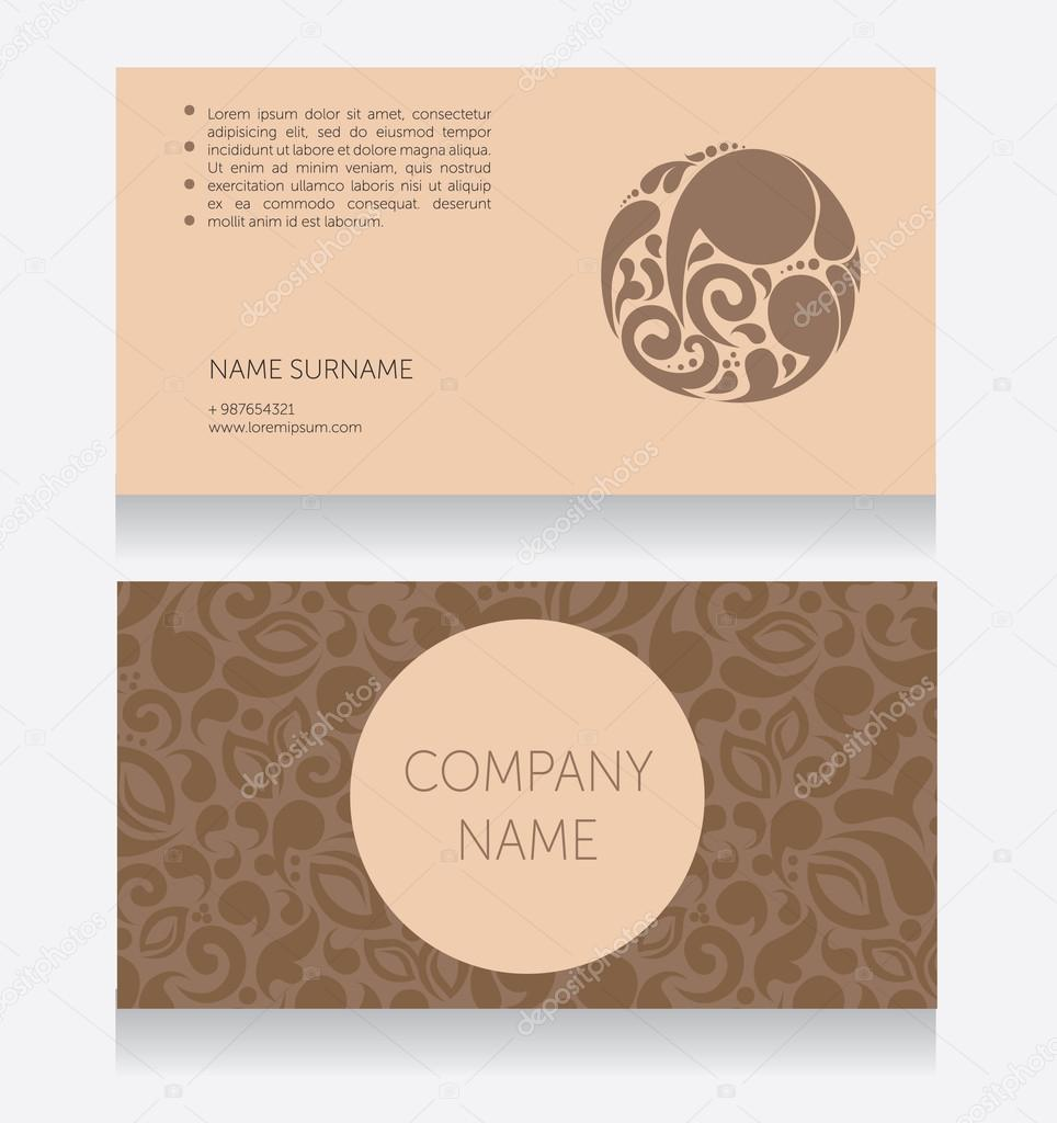 Template for beautiful business card