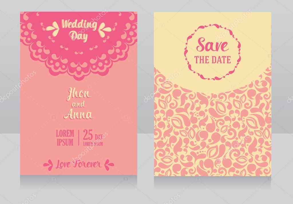 plantillas para invitaciones de boda hermosas archivo imgenes vectoriales