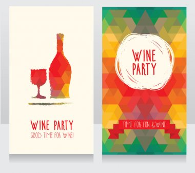 Invitation for wine party