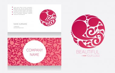 Business card template and template for your logo