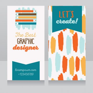Business card template for graphic designer or creative agency