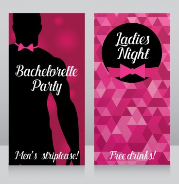 Template for bachelorette party invitation