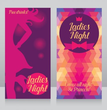 Template for ladies night party invitation
