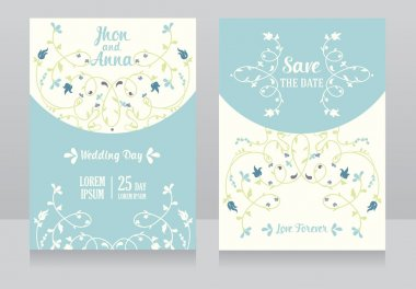 Two floral wedding cards