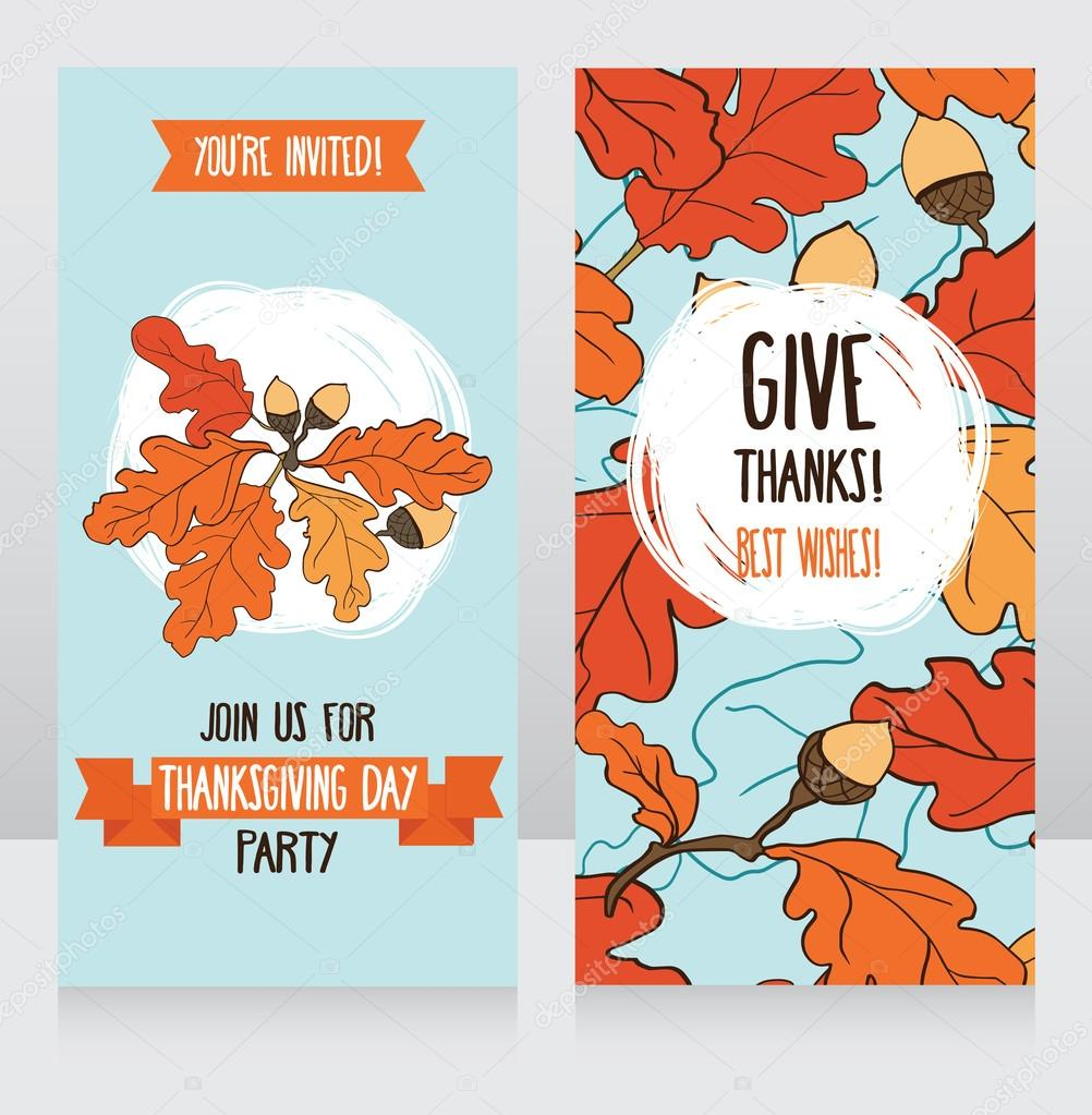Greeting cards for thanksgiving day stock vector ghouliirina greeting cards for thanksgiving day stock vector kristyandbryce Images
