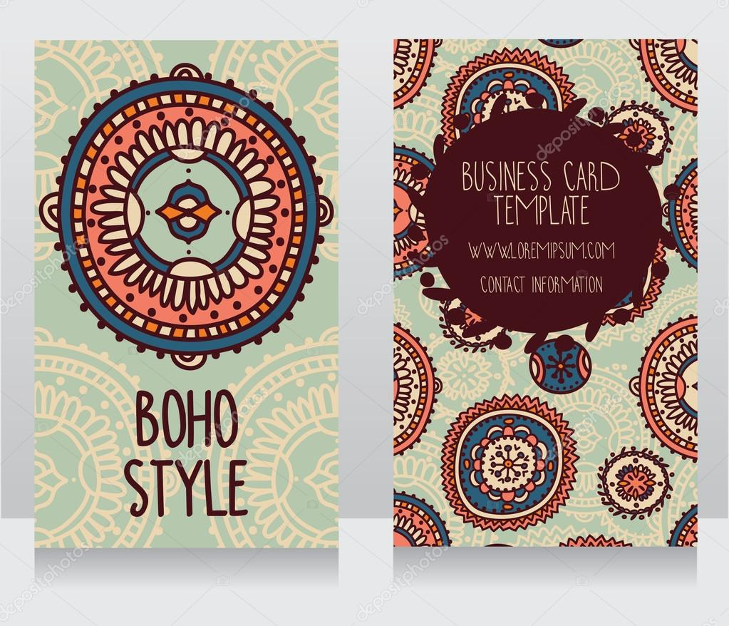 Two cards for boho style