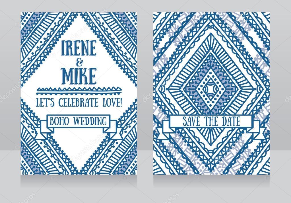 wedding cards in boho style