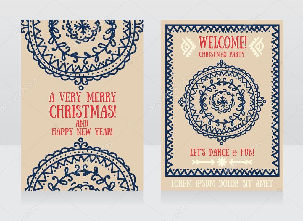 plantilla de invitación de fiesta de Navidad — Archivo Imágenes ...