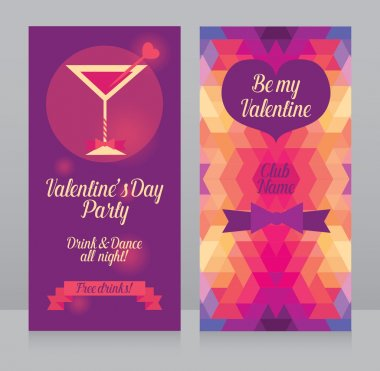Banners templates for valentine's day party