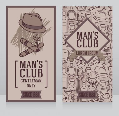 two business cards for gentlemen club