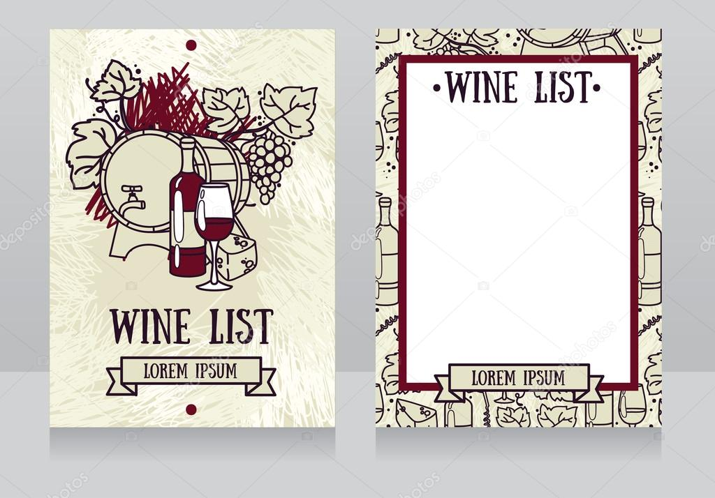 Template for the wine list