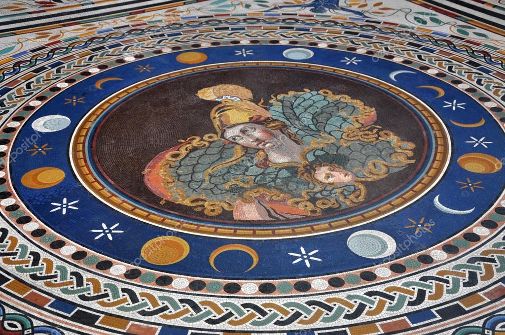 Mosaico Piastrelle Pavimento Nei Musei Vaticani Foto