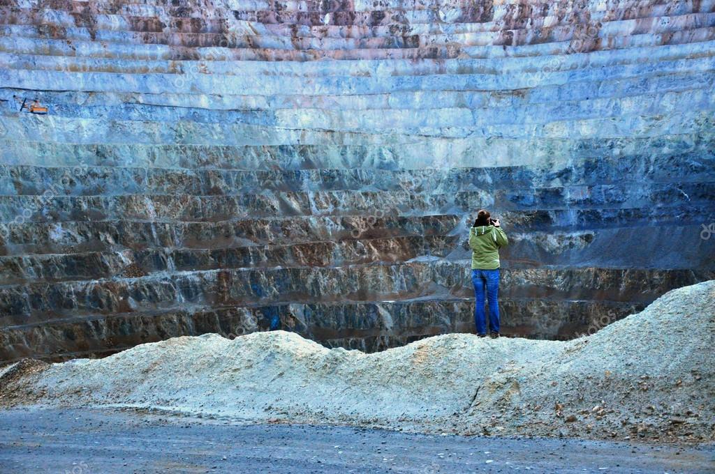 Open pit gold mine in Rosia Montana, Romania
