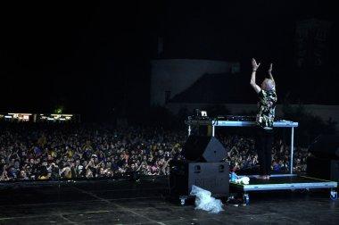 Fatboy Slim performs a live concert