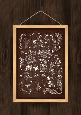 Chalkboard with design element