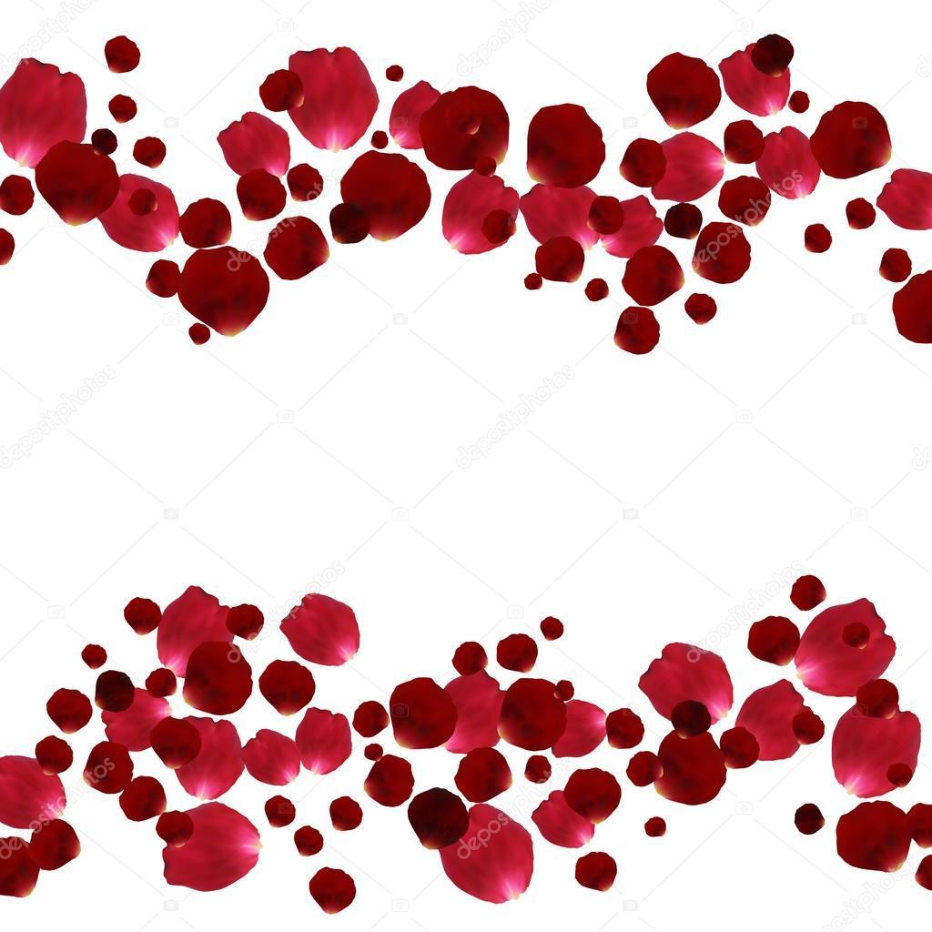 P tales de roses rouges et roses image vectorielle 85844840 - Petale de rose bain ...