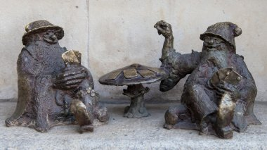Croupier dwarves in Wroclaw