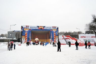 New Year decoration in the Gorky park in Moscow.