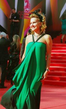TV presenter Elena Starostina at Moscow Film Festival