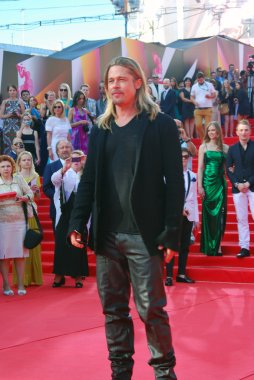 Hollywood actor Brad Pitt at Moscow Film Festival