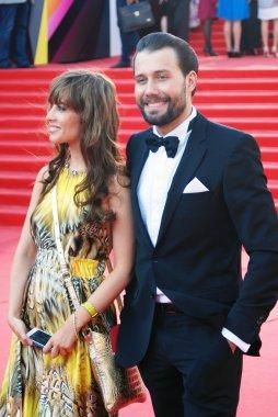 Julia Beretta and Daniil Fedorov at Moscow Film Festival