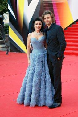 Anastasia Zavorotnyuk and Peter Chernyshov at Moscow Film Festival
