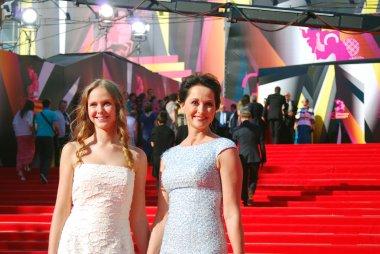 Actress Olga Kabo at Moscow Film Festival