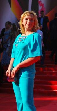 Actress Daria Ekamasova at Moscow Film Festival