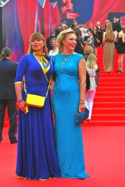 Actresses Natalia Gromushkina and Alla Dovlatova at Moscow Film
