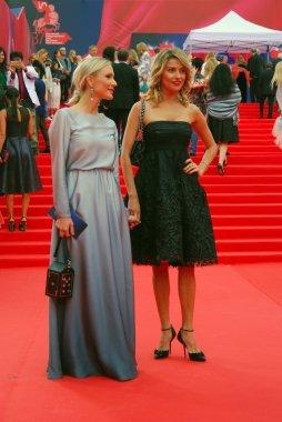 Ekaterina Gordon and Ekaterina Arkharova at Moscow Film Festival
