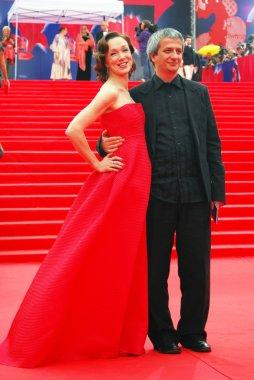 Moroz and Bogomolov at Moscow Film Festival