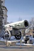 40tunové dělo (král Cannon) v moskevského Kremlu v zimě
