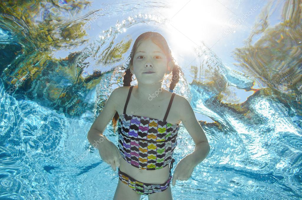 Happy Child Underwater Stock Of Positive Sapphicerotica 1