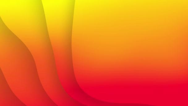Zkreslené červené žluté pruhy vln abstraktní pozadí.