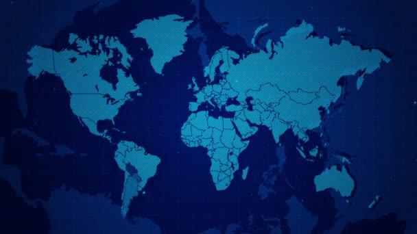 World map technologie obchodní zázemí.