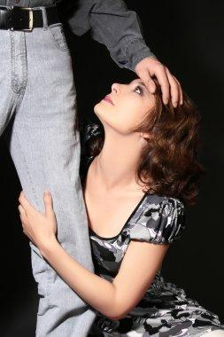 Couple Woman slave submission