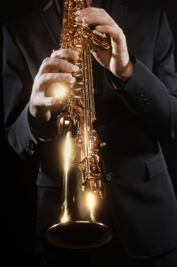 Saxophone player soprano musical instruments