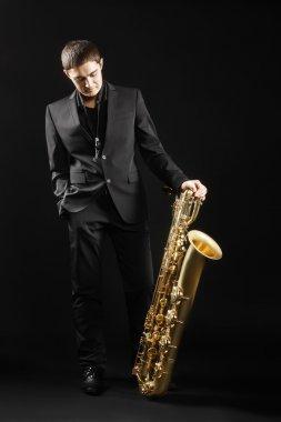Jazz man Saxophone Player