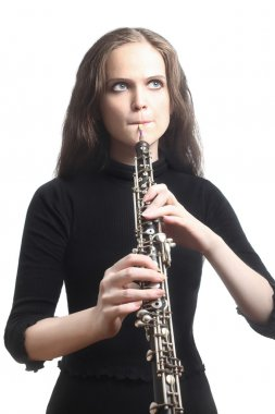 Oboe Oboist playing classical music instrument